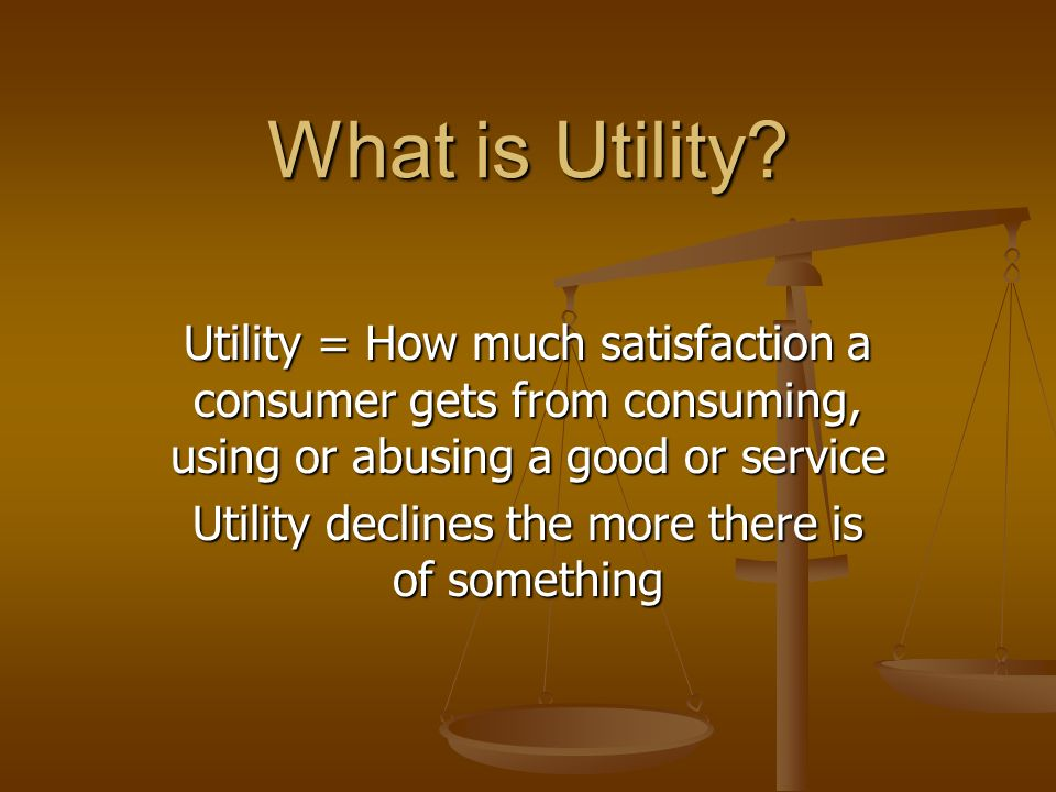 What is Utility.