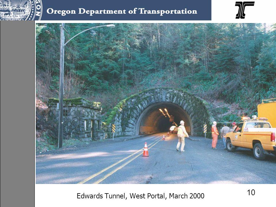 10 Edwards Tunnel, West Portal, March 2000