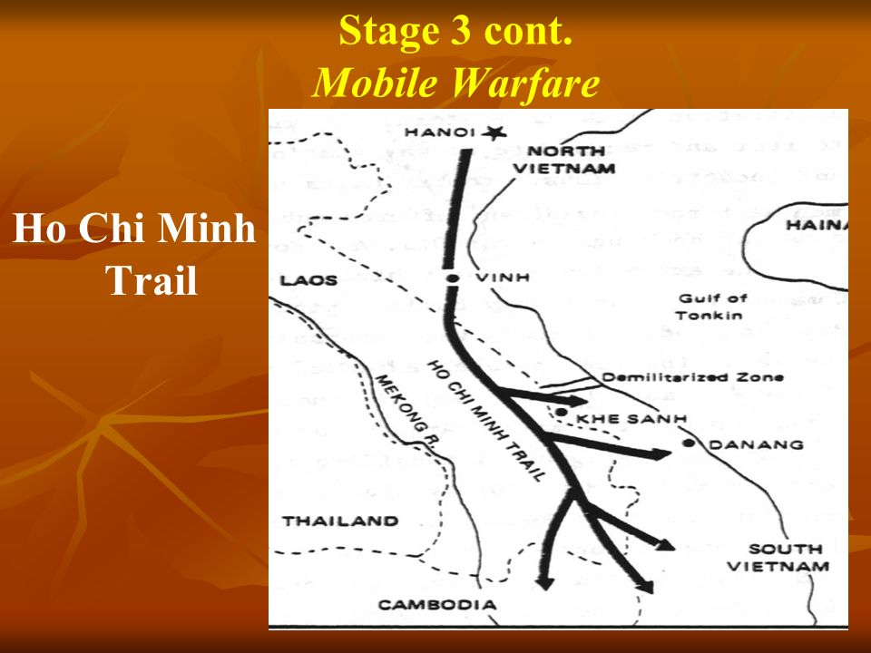 Stage 3 cont. Mobile Warfare Ho Chi Minh Trail
