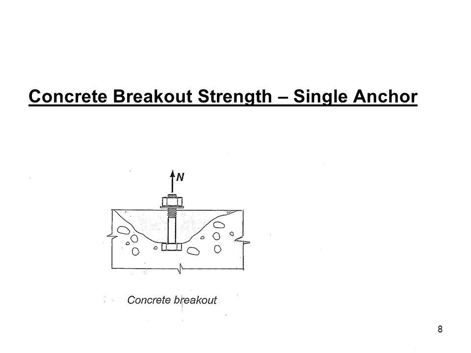 8 Concrete Breakout Strength – Single Anchor