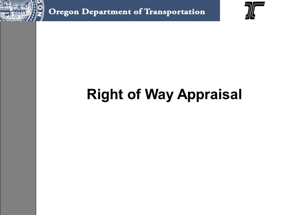 Right of Way Appraisal