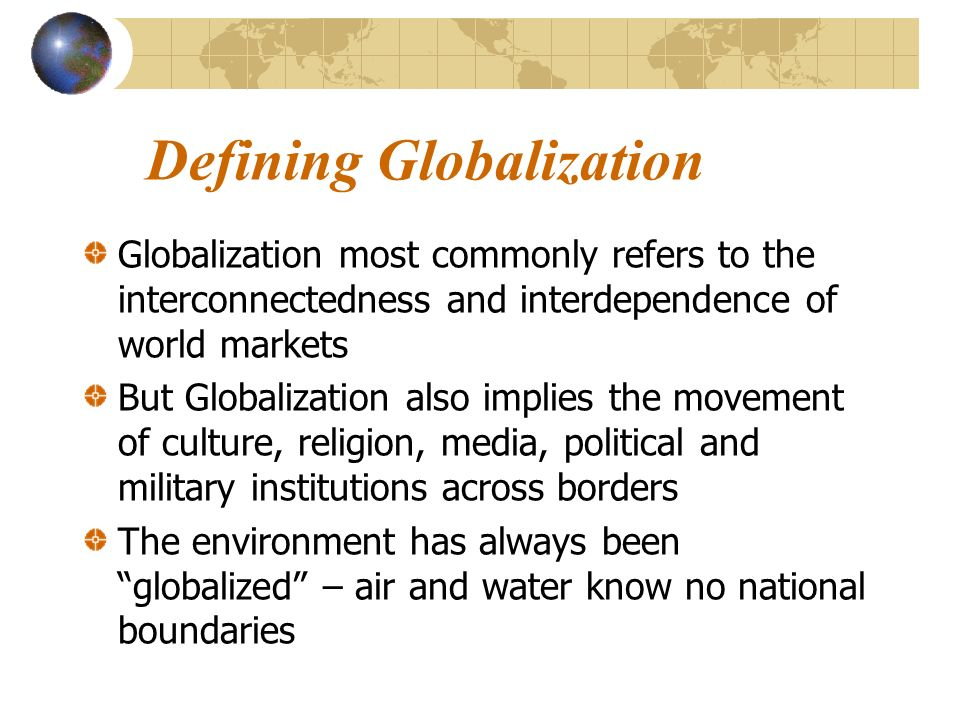 Globalization The New World Order