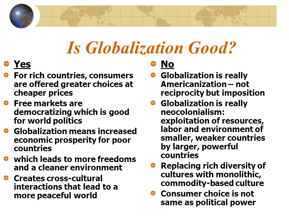 Does Globalization affect Everyone.