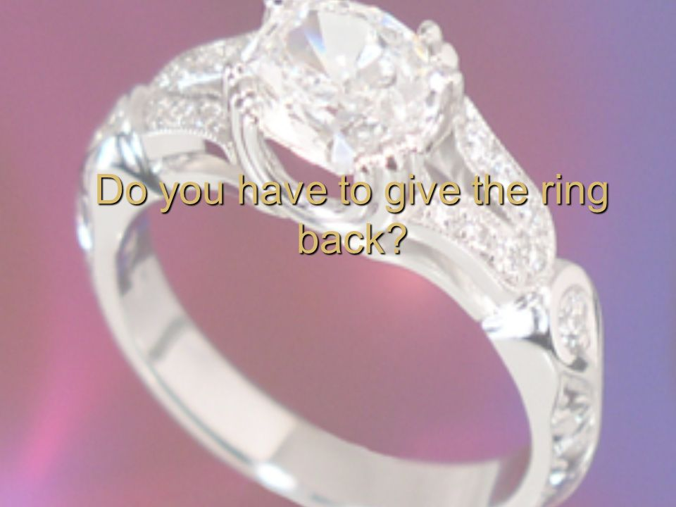 Do you have to give the ring back?