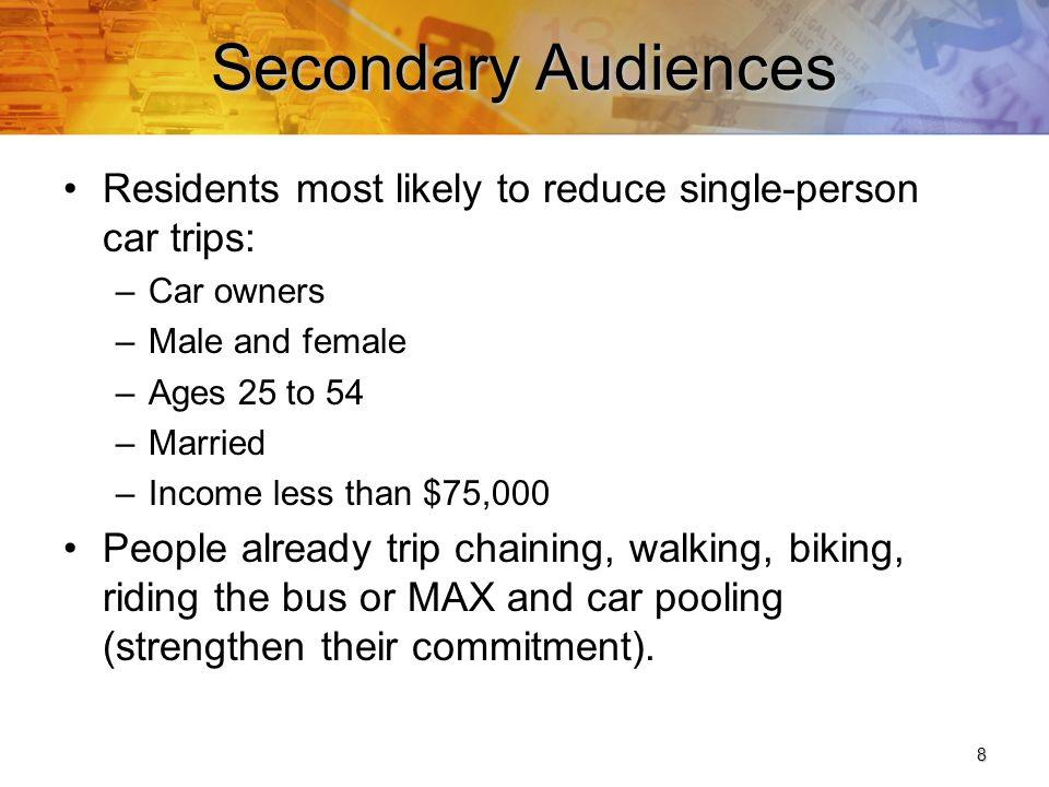 9 Secondary Audiences, cont.