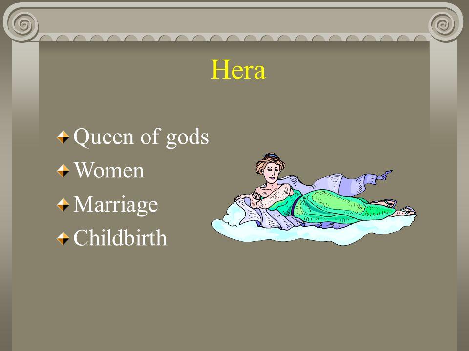 Hera Queen of gods Women Marriage Childbirth