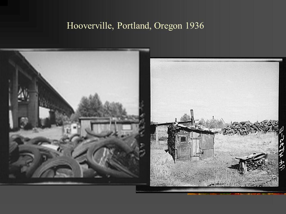Hooverville, Portland, Oregon 1936