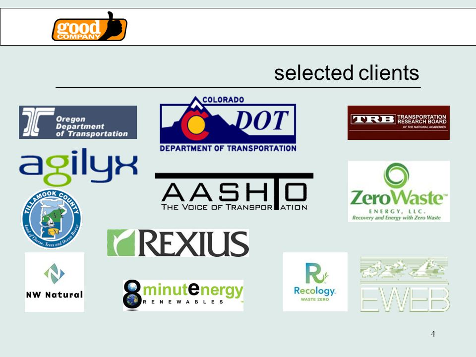 4 selected clients