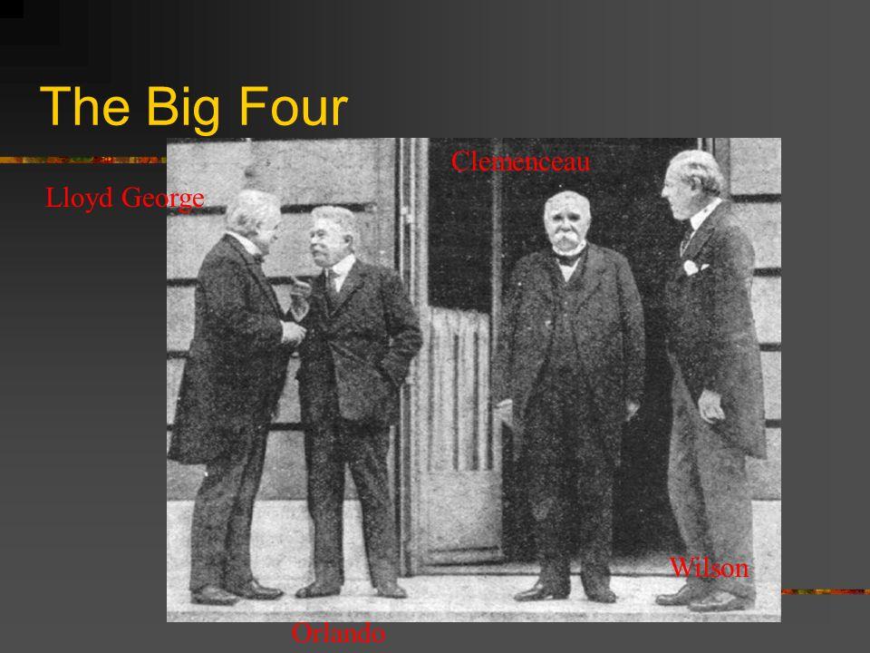 The Big Four Lloyd George Orlando Clemenceau Wilson