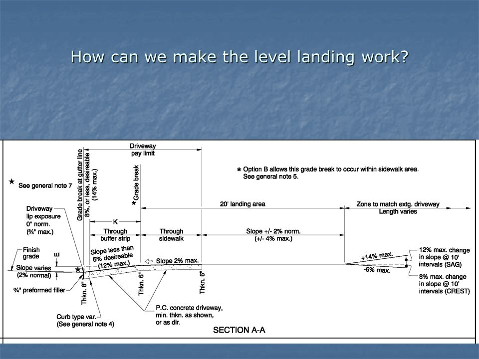 How can we make the level landing work