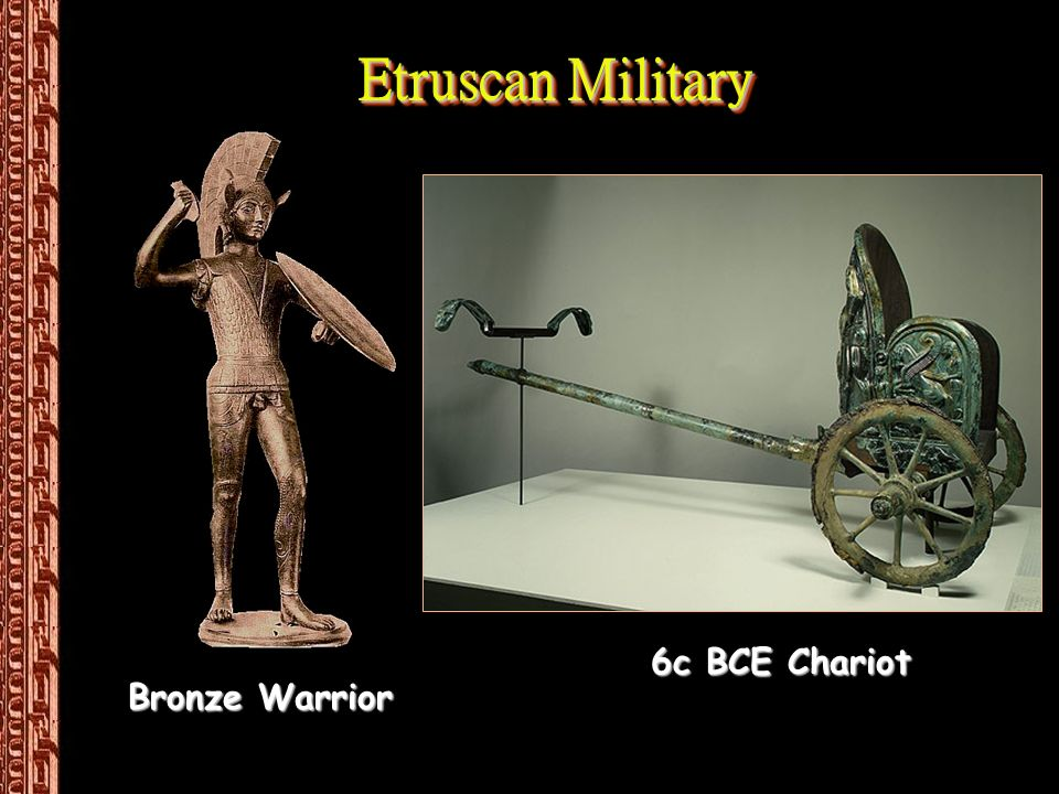 Etruscan Military Bronze Warrior 6c BCE Chariot