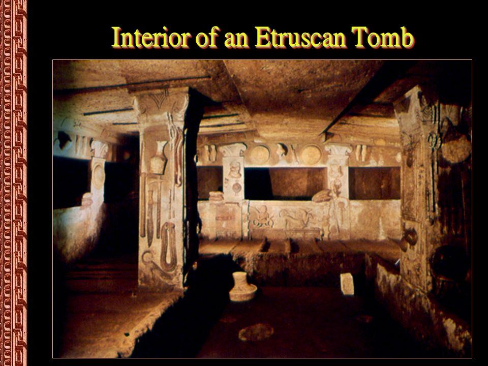 Interior of an Etruscan Tomb