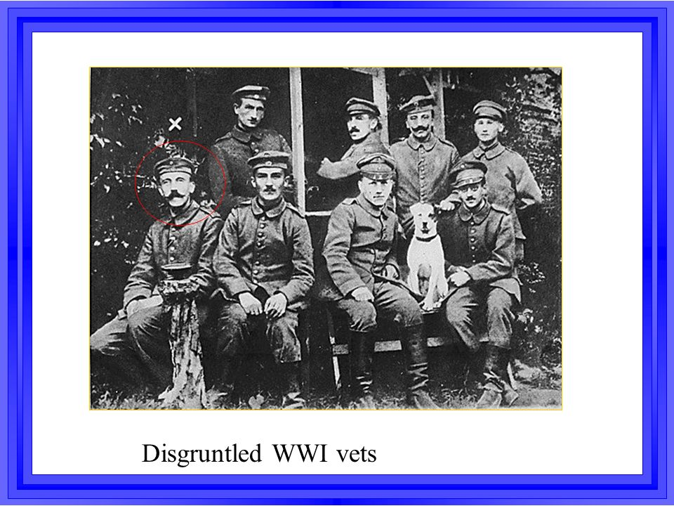 Disgruntled WWI vets