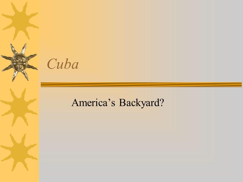 Cuba Americas Backyard