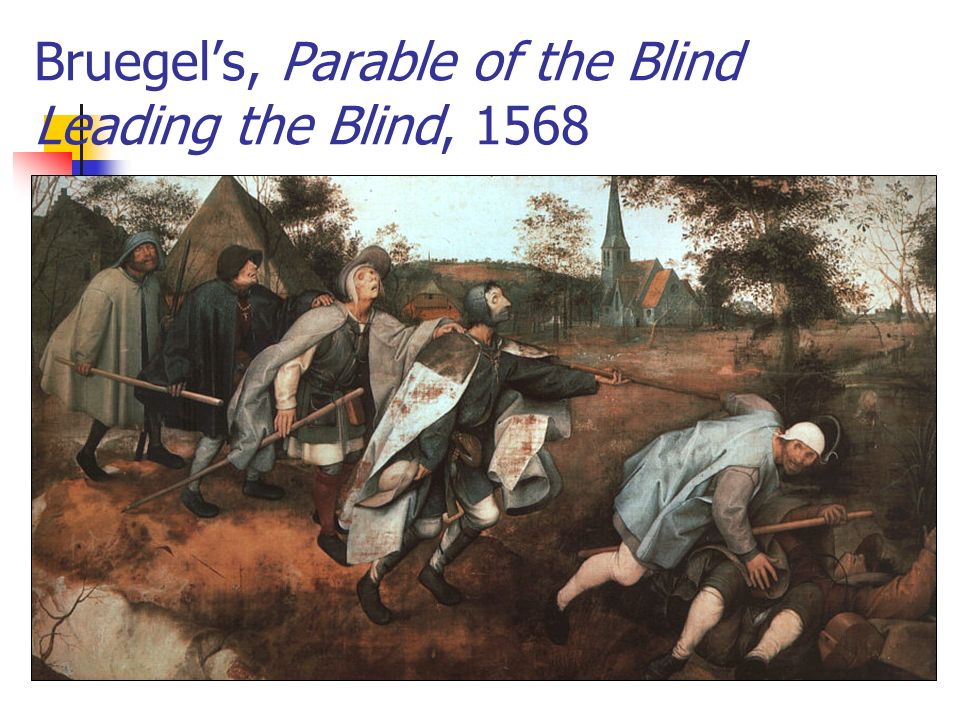 Bruegels, Parable of the Blind Leading the Blind, 1568