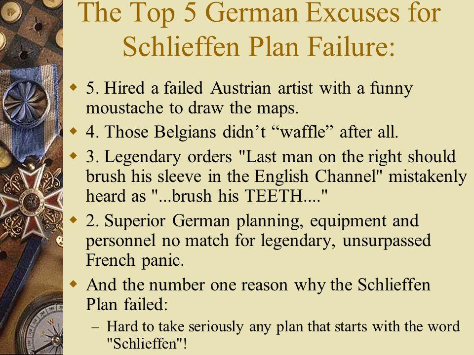 The Schlieffen Plan diagram