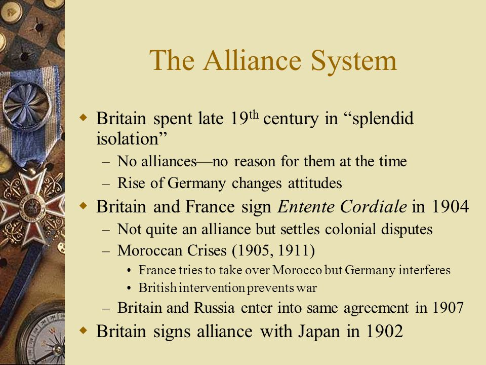 The Alliance System Germany refuses to renew alliance with Russia – Russia allies with France in 1894 France invests in Russian industrialization Kais