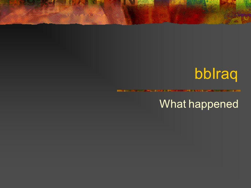 bbIraq What happened