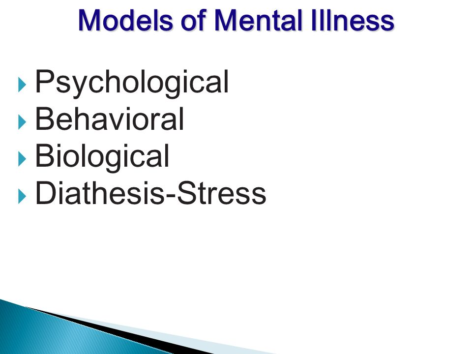Psychological Behavioral Biological Diathesis-Stress Models of Mental Illness