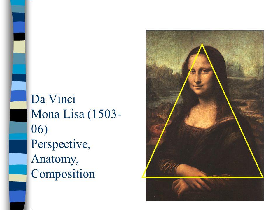 Da Vinci Mona Lisa (1503- 06) Perspective, Anatomy, Composition
