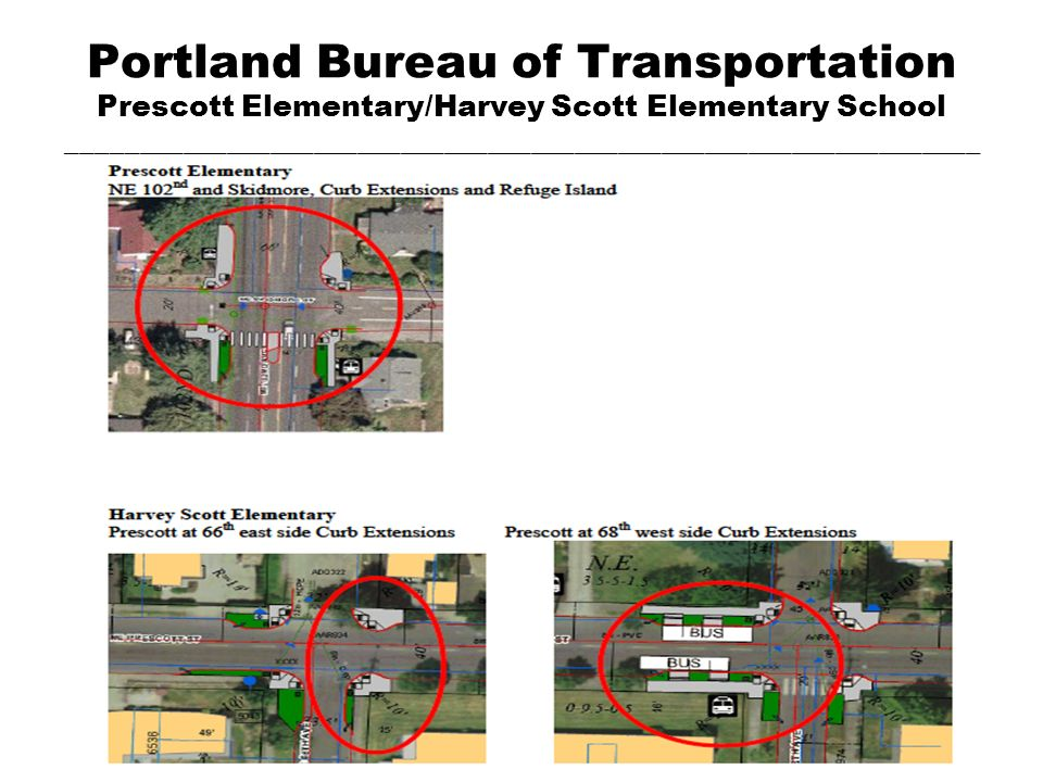 Portland Bureau of Transportation Prescott Elementary/Harvey Scott Elementary School _______________________________________________________________