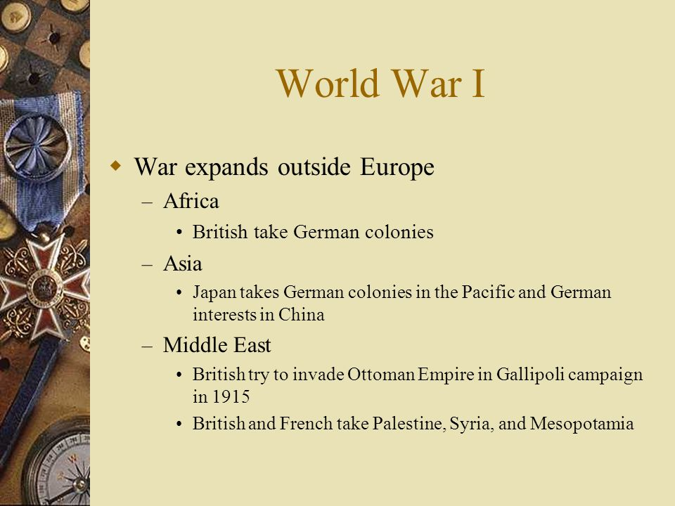 World War I The Eastern Front – Germany invades Russia in 1914 Russian army no match for Germany Germany takes Poland, the Baltic coast, and western R