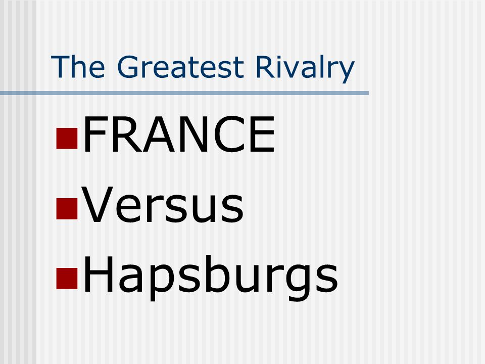 The Great Rivalries Definitely NOT!