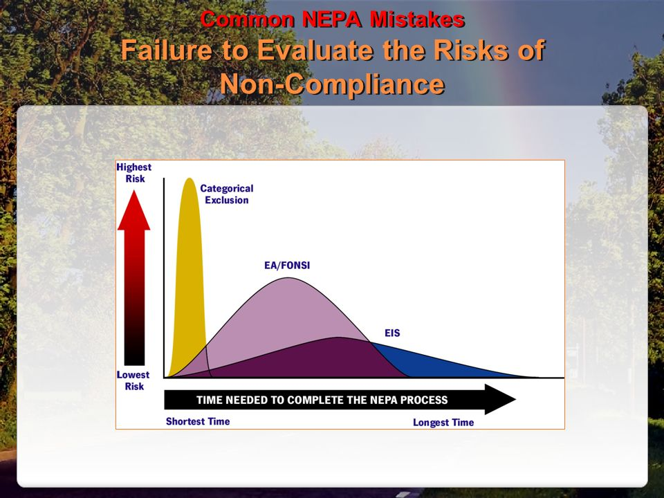 Common NEPA Mistakes Failure to Evaluate the Risks of Non-Compliance