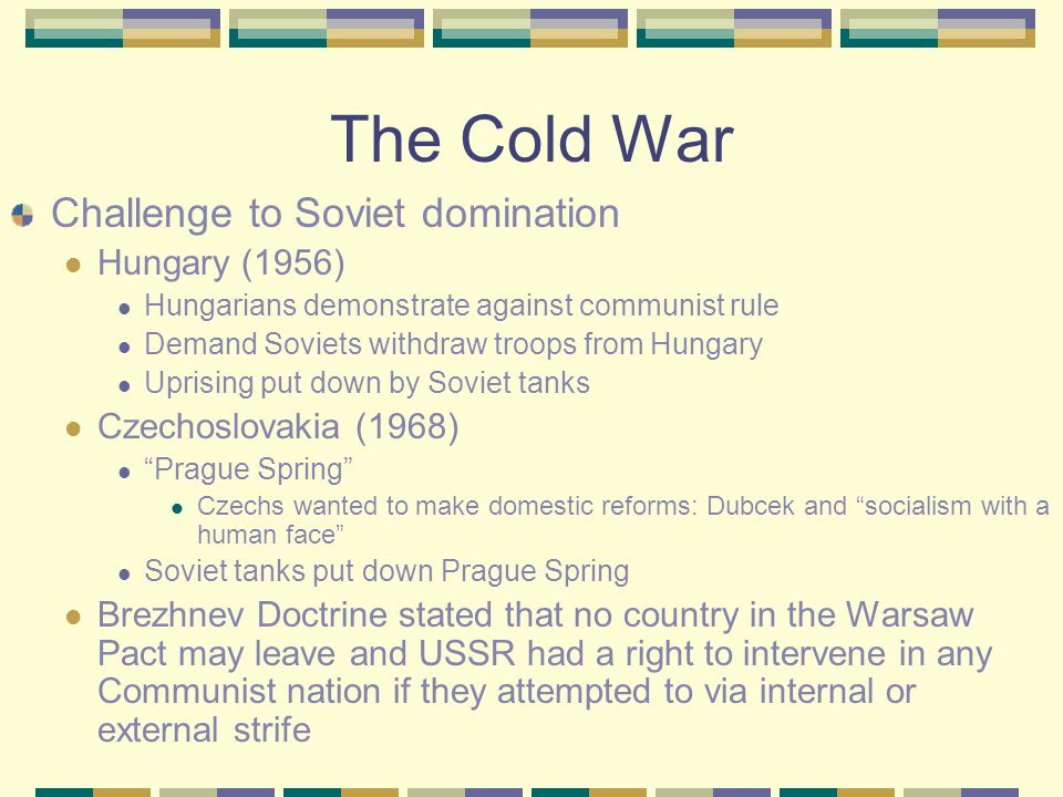 The Cold War Changes in Western society Most affluent society in history Rise in middle class Major population growth Western Europe develops welfare
