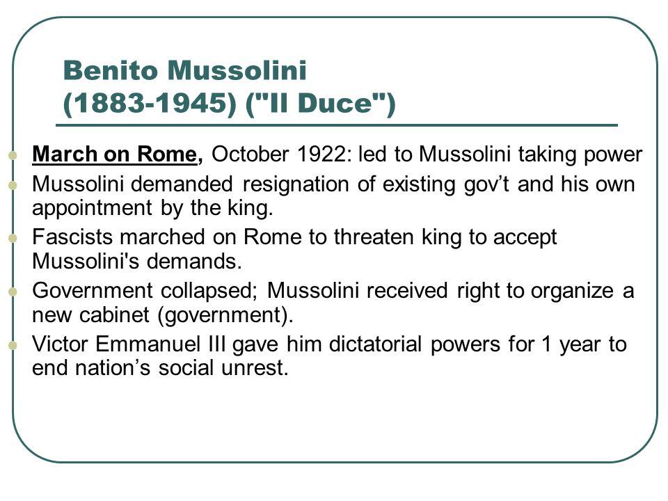 Benito Mussolini (1883-1945) (