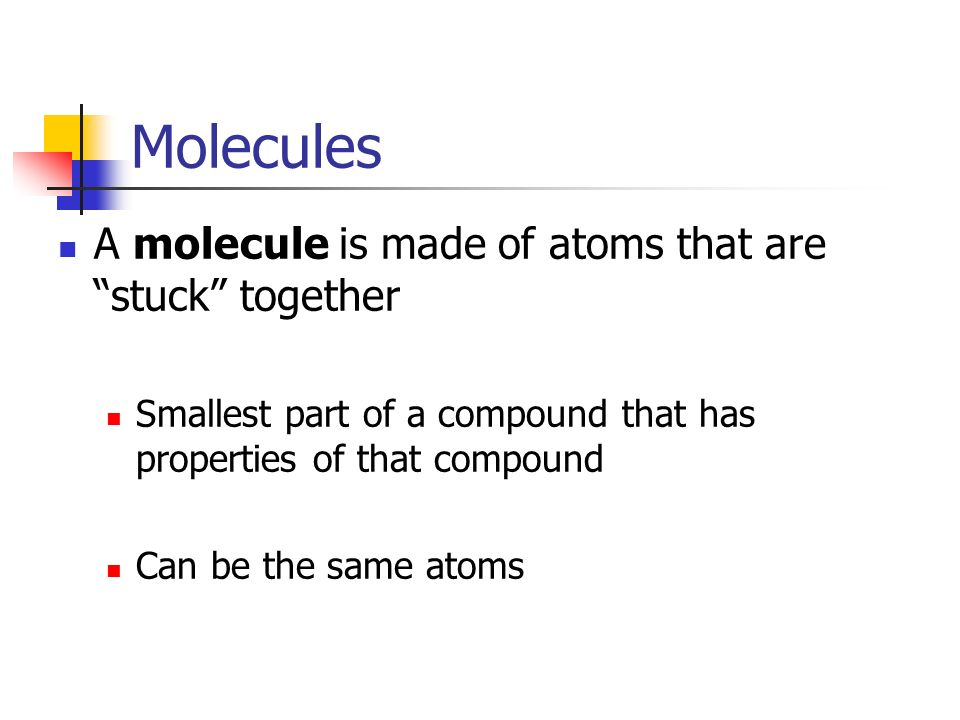 Elements and Compounds There are over 100 different kinds of atoms We call these different types of atoms different elements All matter is made up of