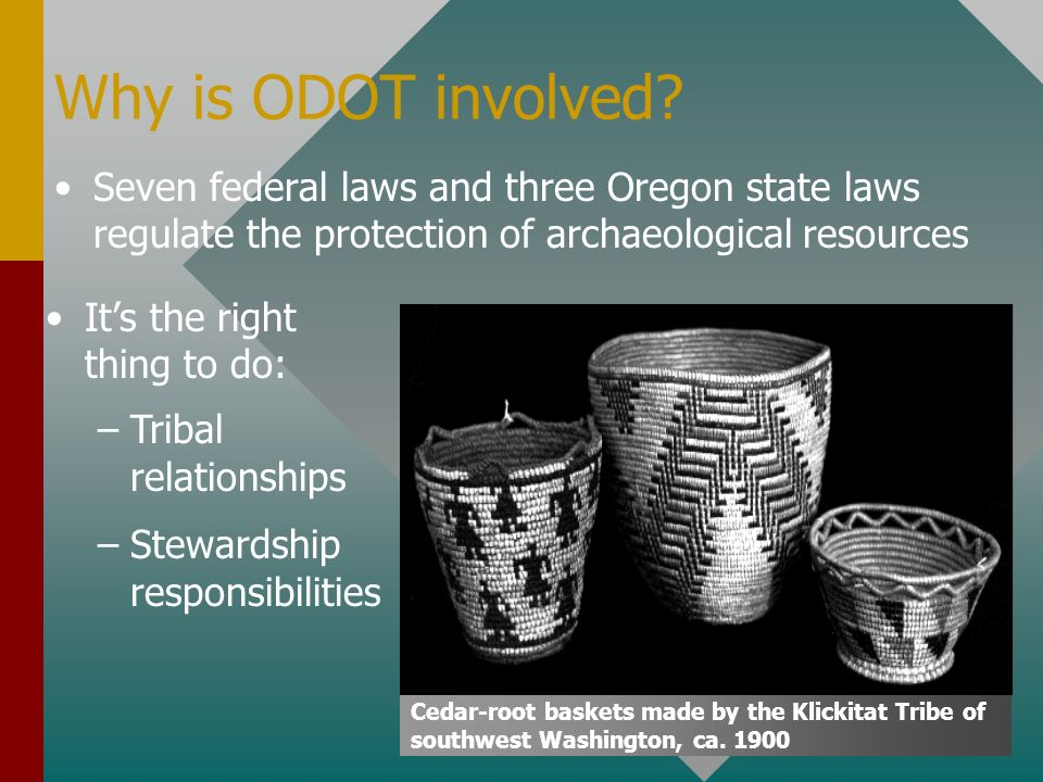 Why is ODOT involved.