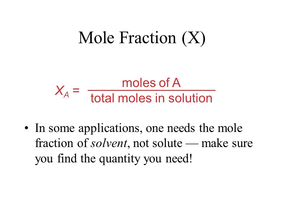 mol of solute L of solution M = Molarity (M) We have discussed this a few times, very quickly this year.