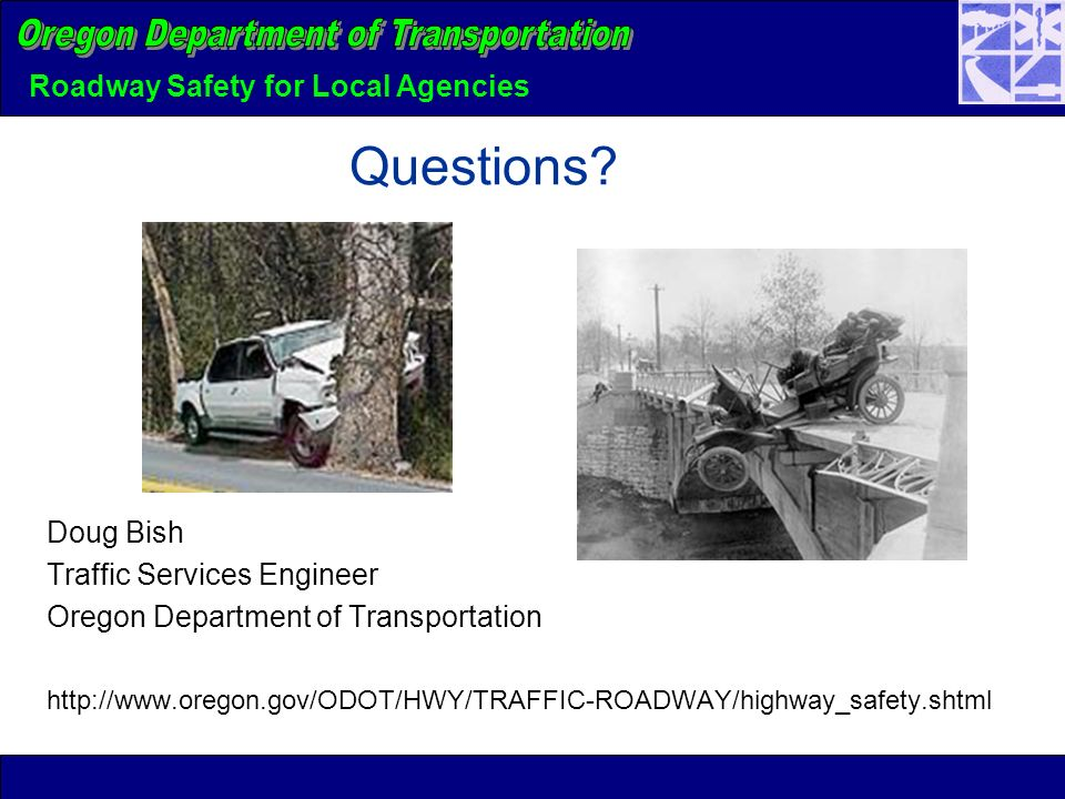 Roadway Safety for Local Agencies Questions.