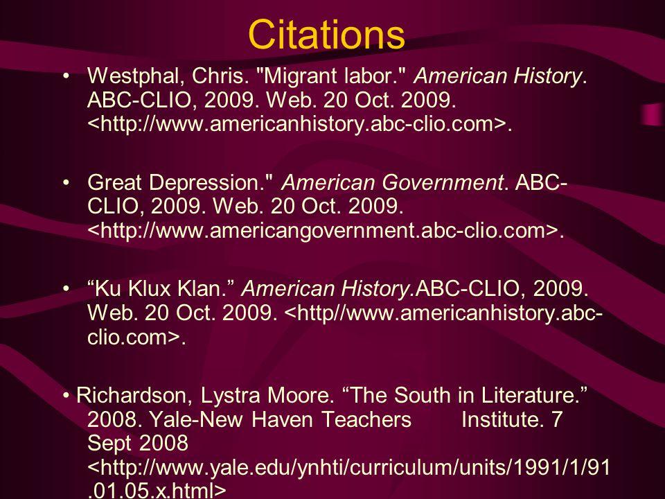 Citations Westphal, Chris.