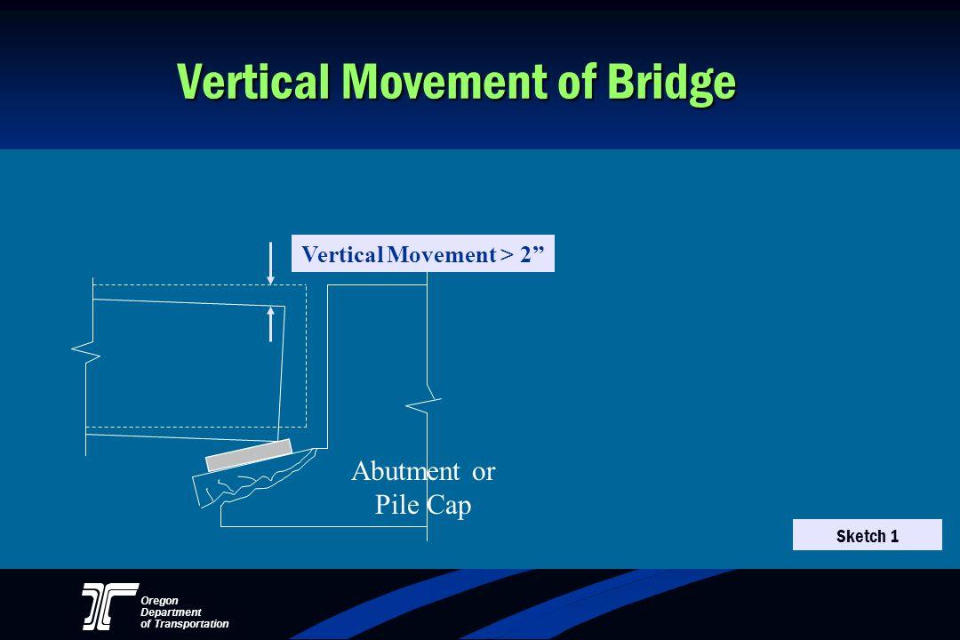 Oregon Department of Transportation Vertical Movement of Bridge Vertical Movement > 2 Abutment or Pile Cap Sketch 1
