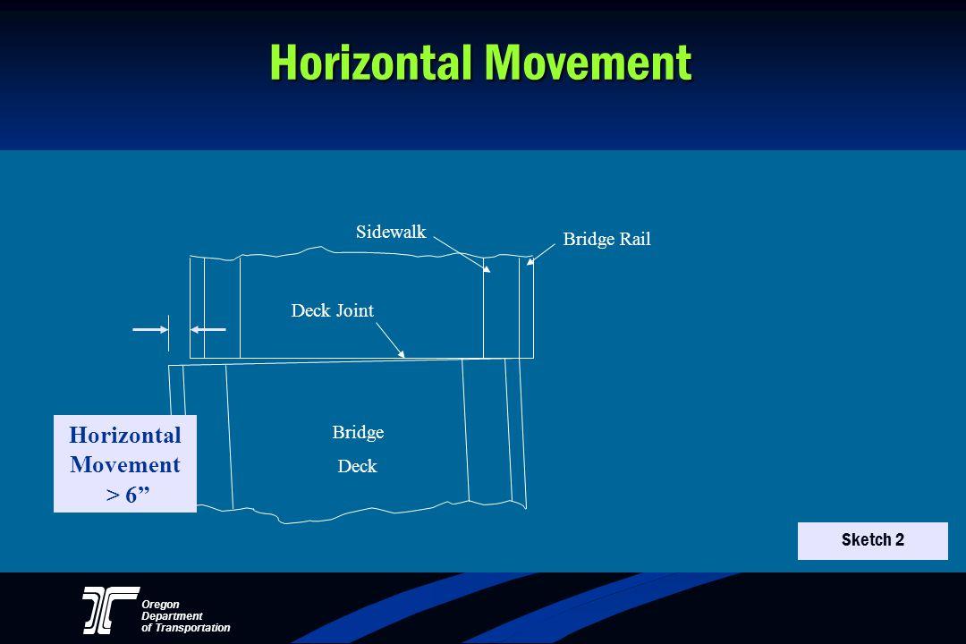 Oregon Department of Transportation Horizontal Movement Horizontal Movement > 6 Bridge Rail Sidewalk Deck Joint Bridge Deck Sketch 2