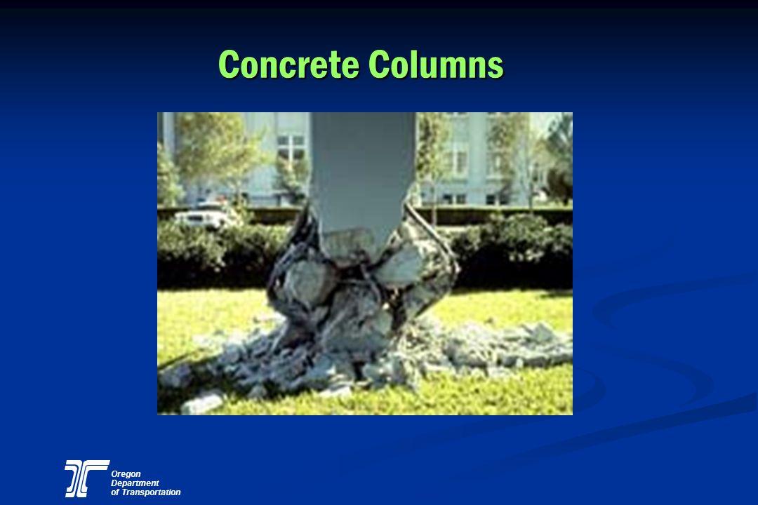 Oregon Department of Transportation Concrete Columns