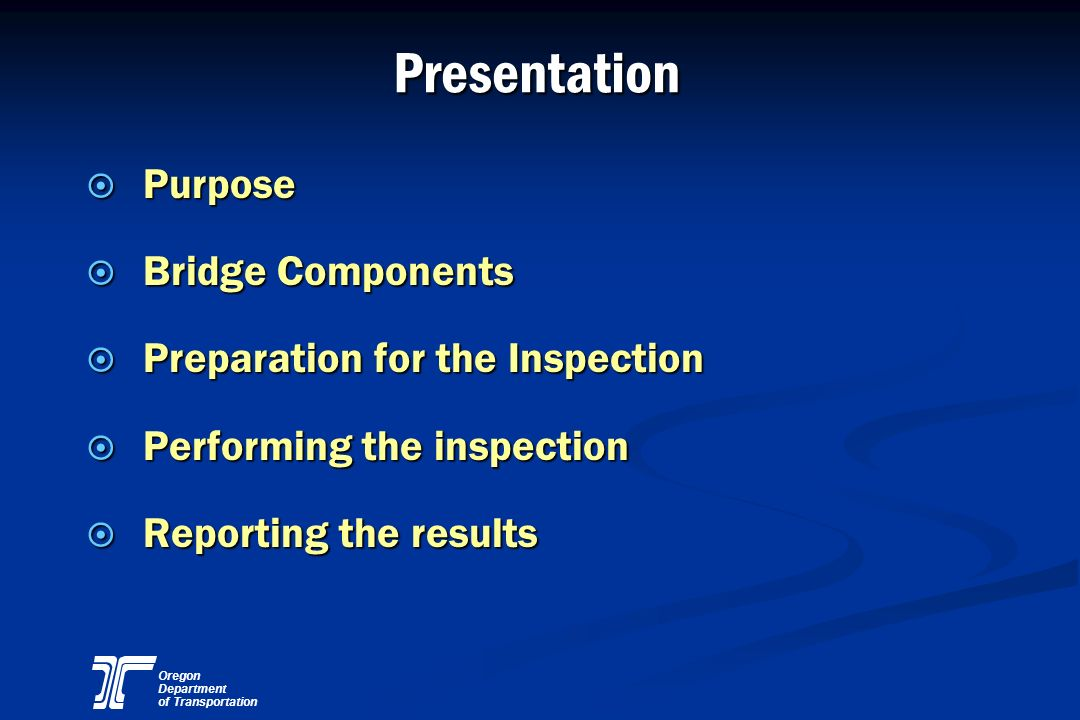 Oregon Department of Transportation Reinforced Concrete Section