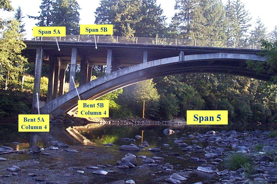 Oregon Department of Transportation Span 5 Span 5A Span 5B Bent 5A Column 4 Bent 5B Column 4