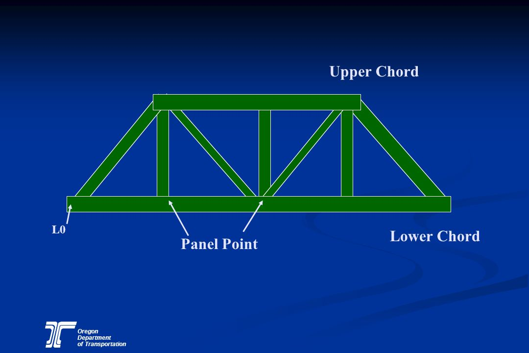Oregon Department of Transportation Upper Chord Lower Chord Panel Point L0