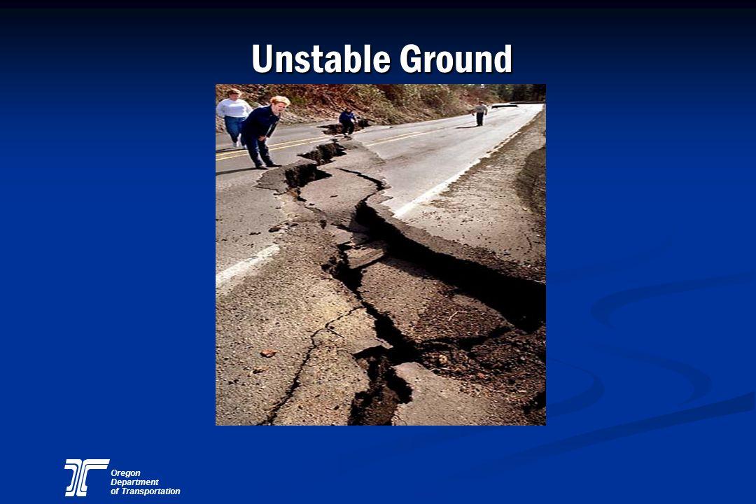 Oregon Department of Transportation Unstable Ground