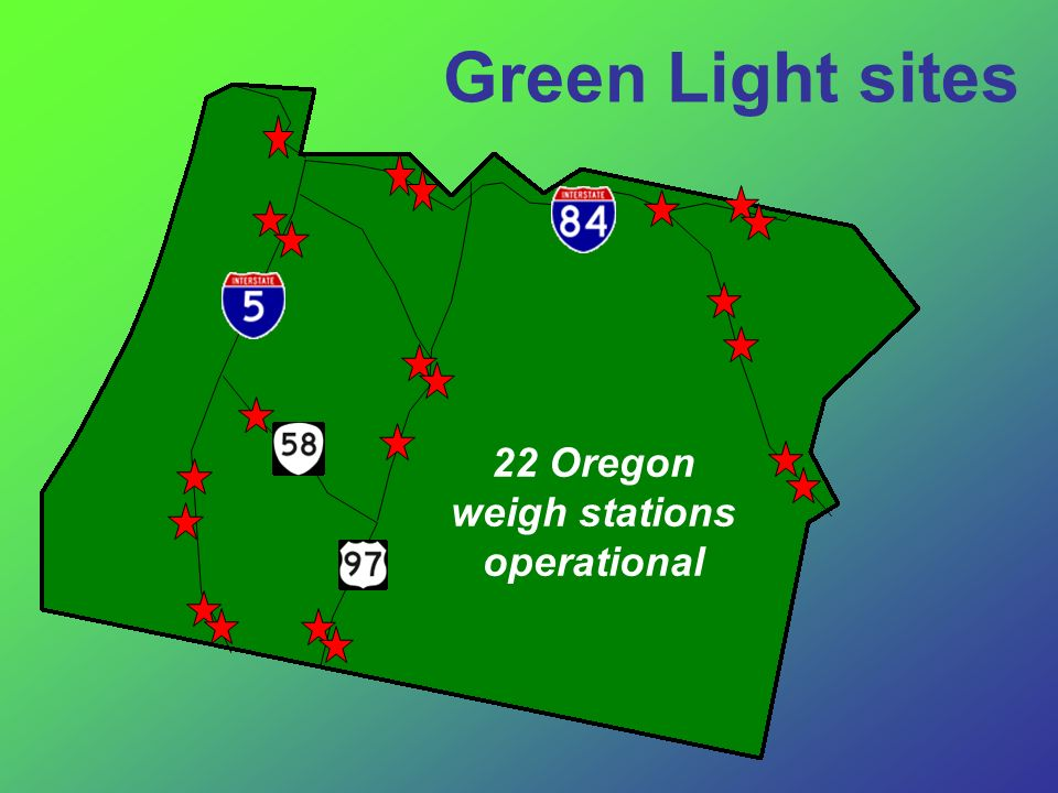 22 Oregon weigh stations operational Green Light sites