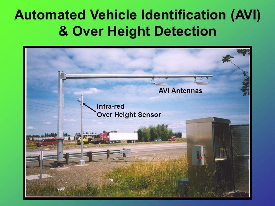 Automated Vehicle Identification (AVI) & Over Height Detection AVI Antennas Infra-red Over Height Sensor