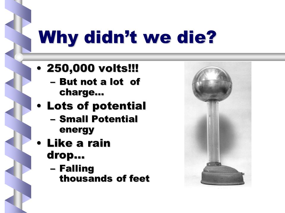 Why didnt we die. 250,000 volts!!!250,000 volts!!.
