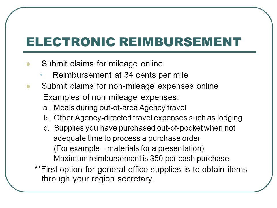 ….Electronic Reimbursement….