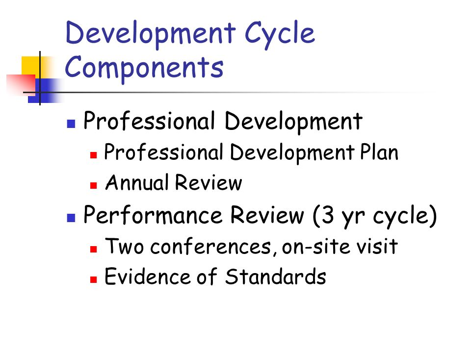 Standards Support for LEA and AEA goals Discipline and professional knowledge Planning and organization Aligning services with multiple needs Data collection and monitoring Interpersonal skills Ongoing professional growth Professional conduct
