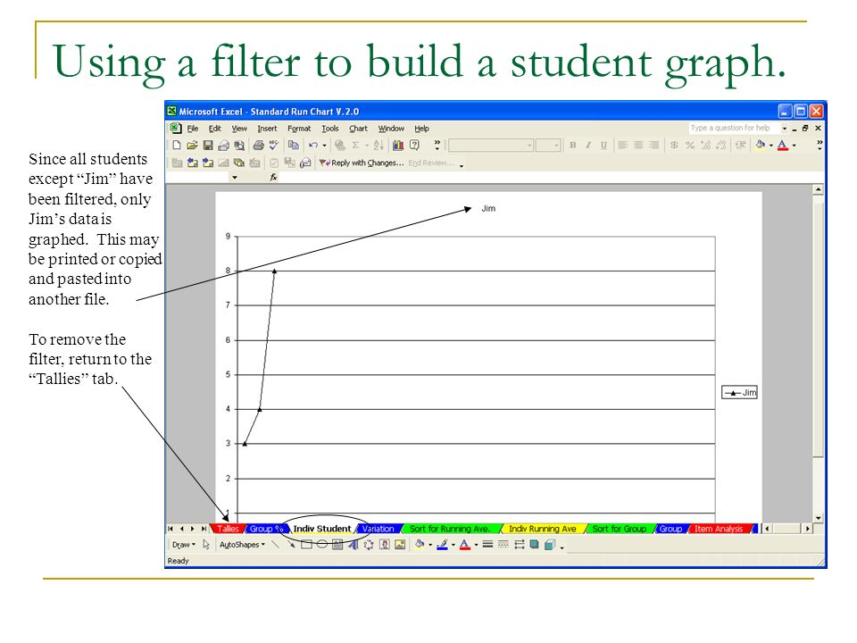 Using a filter to build a student graph.