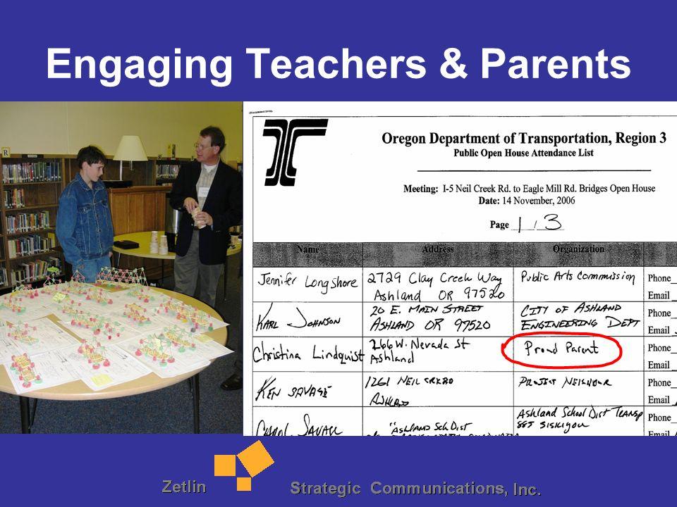 Engaging Teachers & Parents
