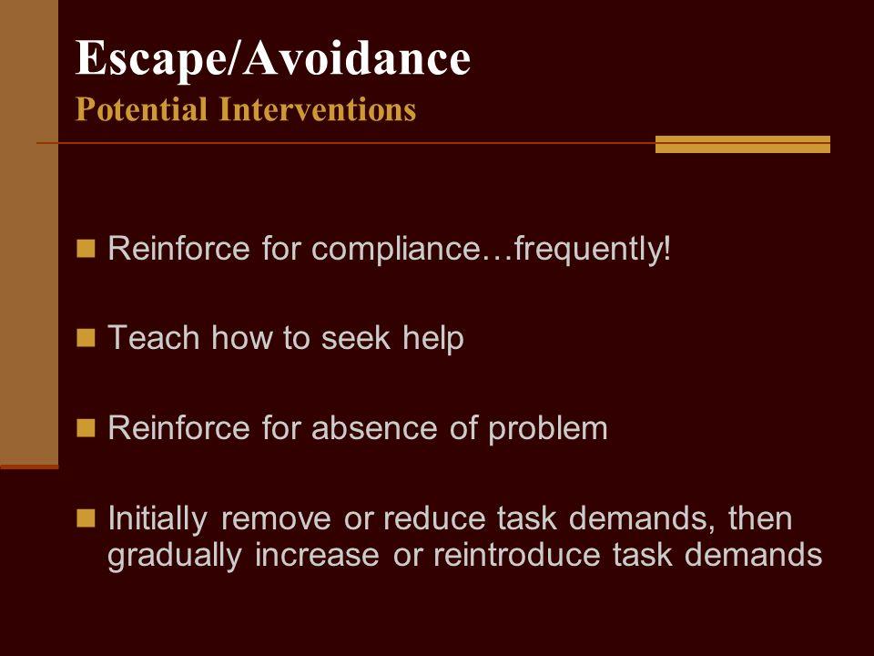 Escape/Avoidance AVOID.